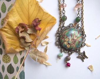 autumn flower necklace