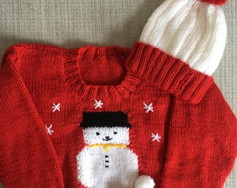 6-12 Month - Christmas Jumper - Snowman Design