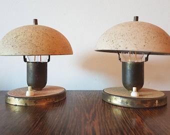 Rare set of 2 art deco, bauhaus sconces 1930s