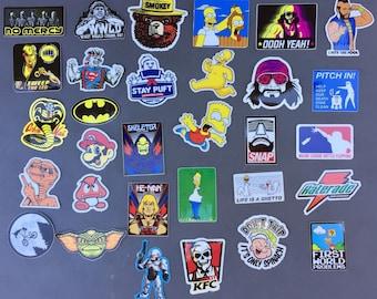 FUNNY Hard Hat Stickers 30+ HardHat Sticker & Decals, Helmet, Lunch, Tool Box, Hydro Flask, Macho Man, Randy Savage, Robocop Free Shipping