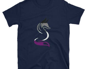 Asexual Pride Fox Unisex T-Shirt lgbtq lgbt lgbtqipa queer gay transgender mogai