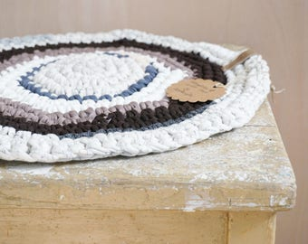 Seat cushion seating colorful crochet 03