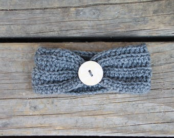 0-3 month Headband with a Button
