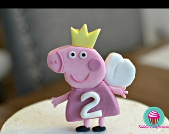 Peppa Pig Inspired Cake Toppers