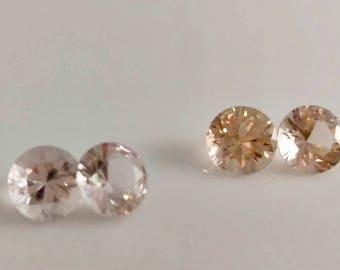 Morganite Round Faceted Gemstone 1pc  5.5mm