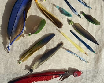 Brilliant and Bright Feather Charms/Pendants (LOT)