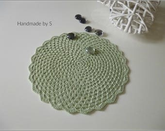 Crochet cover, hand work, crochet cover, diameter