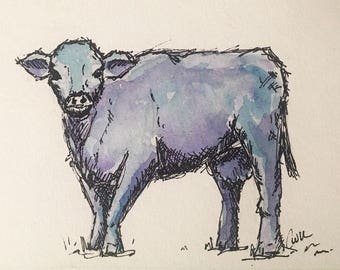 Original Blue Cow