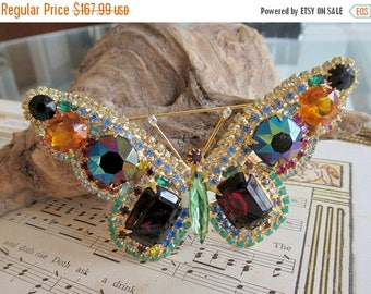 BIG20%OFFSALE SPECTACULAR ab fruit salad Large Butterfly brooch pin