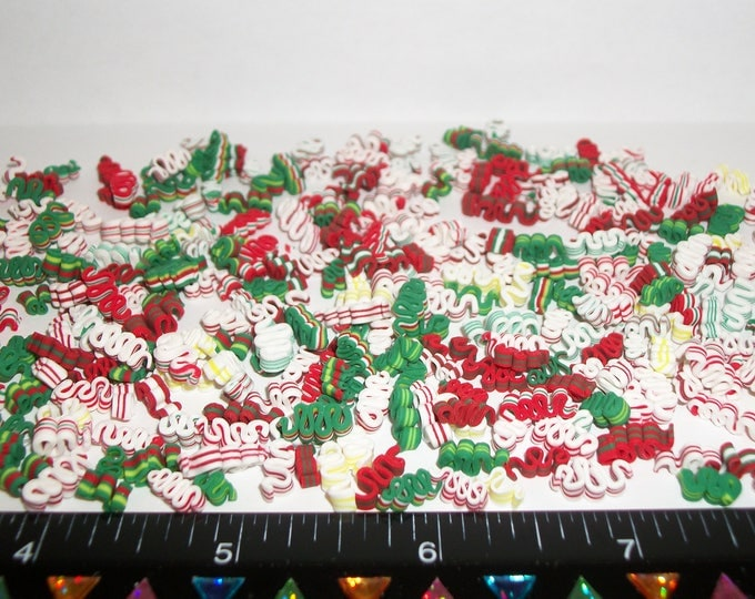 Featured listing image: 10 New Dollhouse Miniature Handcrafted Christmas Ribbon Candy Doll Dessert Food