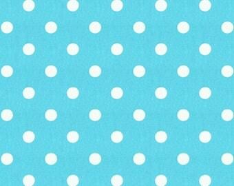 Turquoise Polka Dot - Fabric By The Yard - Decor Cotton - Premier Prints (Polka Dot - Girly Blue/White)