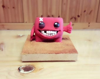 handmade super meat boy figure