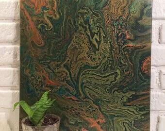 Original Abstract Fluid Acrylic Painting on Canvas