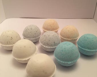 Mini bath bombs/ wedding favors/ baby shower/ mani pedi bath bombs / 1 inch bath bombs/ bath bomb bundles