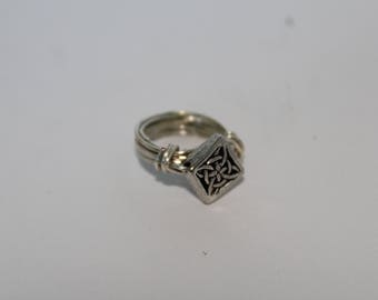 Celtic Knot Silver Wire Wrap Ring
