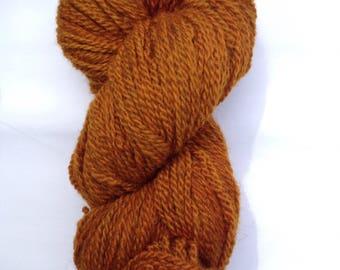 Hand-dyed BFL/Masham, DK weight. 100g/240m 'rust bucket'
