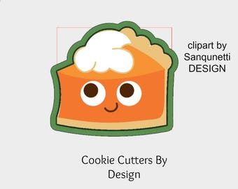 Pie Cookie Cutter / Pumpkin Pie