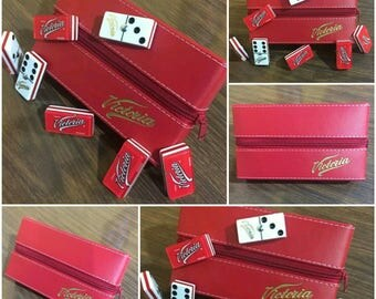 Cerveza Victoria Beer Dominoes Game Set Double Six Domino Party Gift Man Cave Bar Home Restaurant Cantina Tavern Pub Family Game Board Game