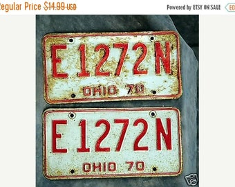 S Ohio License Plates/ Tags Two 1970