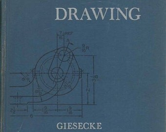 Technical Drawing Hardback 1958 Book by GM Spencer Fourth Edition