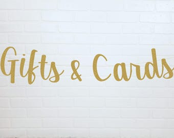 Gold Cards Wedding Banner | Cards and Gifts Wedding Banner | Cards and Gifts Sign | Cards Wedding Sign | Gifts Wedding Sign | Cards and Gift