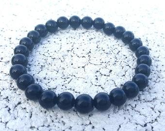 Black Obsidian Men Bracelet, Men Mala Bracelet, Meditation Bracelet, Healing Balance Bracelet