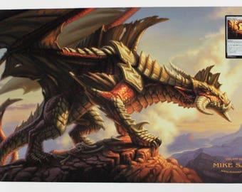 Red Dragon Playmat