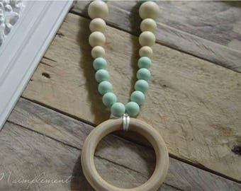 Teething necklace. [Sweet wood].