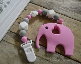 Attaches toy of teething. [Pink Ruby].