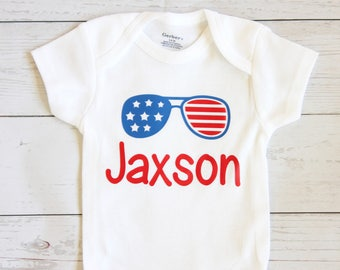 4th of July onesie | Personalized 4th of July onesie, My first 4th of July, Baby boy onesie, Forth of July, Baby boy clothes, First 4th