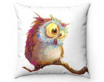 Nursery throw pillow cover - Owl pillow - Nursery Decor - Accent pillow - Baby Shower - Love pillow