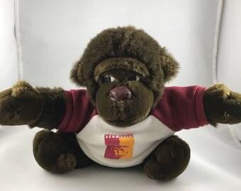 1988, Dakin Plush Pitt State Gorilla. Tsuruya Doll, Dakin co.