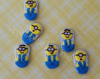 Minion Magnets - Polymer Clay Handmade Minion Magnets - Kevin Stuart Bob Fridge Magnets - Recycled Pop Tabs - Hand Painted Fridge Magnets