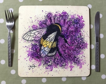 Bumblebee and Verbena Placemats / Tablemats