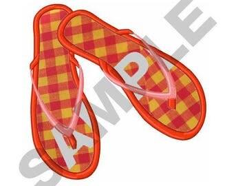 Large Flip Flops Applique - Machine Embroidery Design