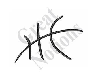 Basketball Lines - Machine Embroidery Design