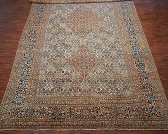 Antique 13X24 Oversized Persian Dorukhsh Hand-knotted Area Rug, circa 1900 (13.3 x 23.8)