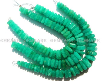 Amazonite Nuggets Faceted Beads, Quality AAA, 6 to 13 mm, 18 cm, 45 pieces, AM-041/1, Semiprecious Gemstone Beads, Craft Supplies