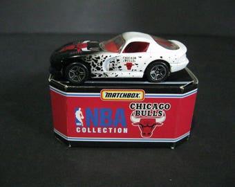 Vintage Chicago Bulls Matchbox Car, 1996 Matchbox NBA Collection, Chicago Bulls Diecast Car
