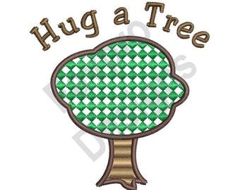 Hug A Tree - Machine Embroidery Design