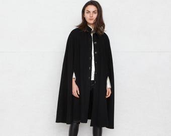 Vintage Black Saint Laurent Cape/ Size 34
