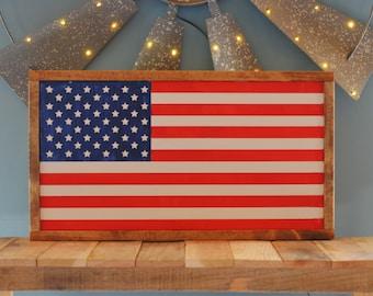 Wood Flag Sign, USA Flag, Wooden American Flag, American Flag