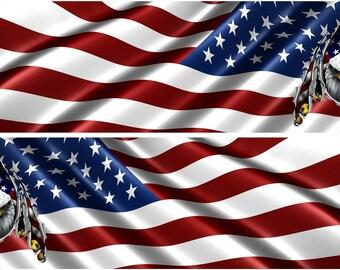 Bald Eagle Holding American Flag Rv Motorhome Wall Window