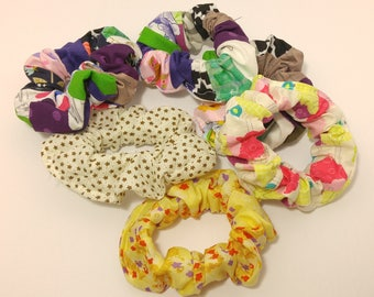 Hair Scrunchies 3 for 5 - SURPRISE LOT, hair accessories, gift for her, random selection, surprise gift, hair tie, hair elastics; scrunchy
