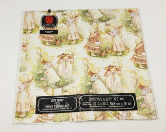 Vintage Holly Hobbie Wrapping Paper in Original Packaging - gift wrap; children's; collectible; 1970's; 1980's; rare; OOAK; all occasion