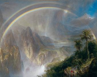 Landscape Painting, Landscape Paintings on Canvas, Landscape Art, Rainy Season in the Tropics -Oil Painting Recreation
