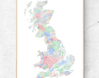 The Rivers of Great Britain  - Light Pastels on White