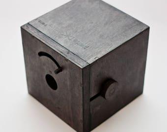 Pinhole camera Perle Unum BLACK WOOD (10x10cm)