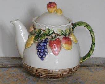 Vintage Fruit Bowl Teapot - Made in Japan