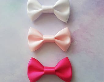 Pink Princess Mini Hair Bow Set